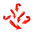 Red Abstract Arrows Set vector image vector image