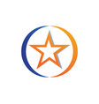 red and blue star symbols logo template icon vector image vector image