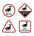 Security camera sticky labels vector image vector image