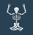 skeleton yoga yogi dead zen and relaxation lotus vector image