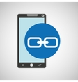 smartphone programming web link vector image vector image