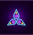 spiritual neon sign vector image
