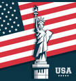 statue of liberty united states usa flag emblem vector image vector image