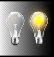 stock realistic lightbulb vector image