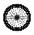 wheel black icon vector image