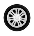 wheel drive from the cars in on white backg vector image