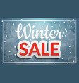 winter sale concept banner cartoon style vector image