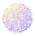 hr management line icon circle design vector image