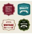 Vintage and retro label design vector image
