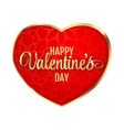 Happy Valentines Day Hearts on vector image
