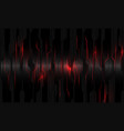 abstract red light power circuit on black metallic vector image vector image