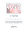 analytics page and text sample vector image vector image