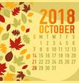 autumn fall calendar months template vector image vector image