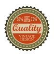 Best offer vintage tag vector image