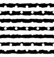 black and white monochrome polka dot and vector image vector image