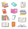 books opened diary story-book and notebook vector image vector image