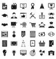 business presentation icons set simple style vector image vector image
