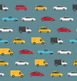 cartoon color modern car seamless pattern vector image vector image