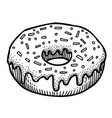 cartoon image of doughnut vector image