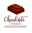 chocolate bar isolated vector image vector image
