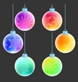christmas balls with white snowflakes decorations vector image vector image
