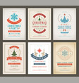 christmas party posters design set retro vector image vector image
