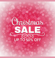 christmas sale background advertising poster for vector image