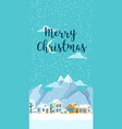 christmas winter vertical landscape with vector image vector image