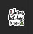 christmas wishes lettering in doodle style jolly vector image vector image