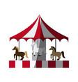 circus carousel icon vector image vector image