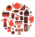 Coffee composition vector image vector image
