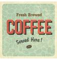 coffee retro poster vector image vector image