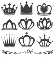collection vintage crowns vector image vector image