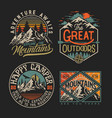 collection vintage explorer wilderness advent vector image