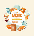 colorful baking ingredients round concept vector image vector image
