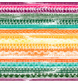 colorful striped seamless pattern with doodle vector image