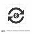 currency convert icon vector image vector image