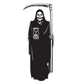 death with hourglass and scythe vector image vector image