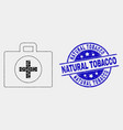 dot medical case icon and scratched natural vector image vector image