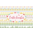 easter borders ornament garland set banner vector image vector image