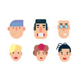 flat avatar icons faces people icons vector image vector image