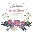 floral wedding invitation isolated icon design vector image vector image