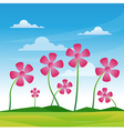 flower pink vector image vector image