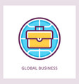 global business icon linear pictograph vector image vector image