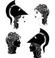 Greek woman profiles vector | Price: 1 Credit (USD $1)