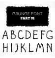 Grunge hand written alphabet vector image