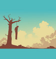 hanging tree vector image vector image