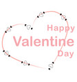 happy valentines day card inside silhouette vector image vector image