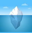 iceberg floating in ocean huge white vector image vector image