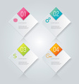 Infographic template with step options for vector image vector image
